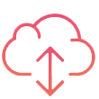 Cloud with Up and Down Arrows Icon