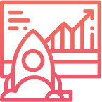 Rocket and Line Chart Icon